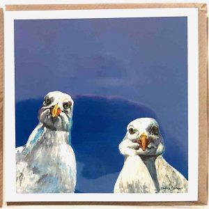Art Card – Seagulls Selfie