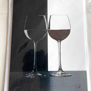 Art Card – Wine Glasses
