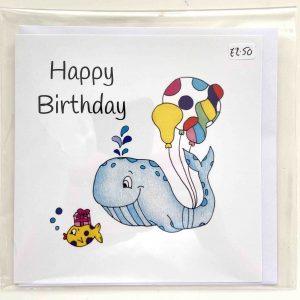 Art Card – Whale Birthday