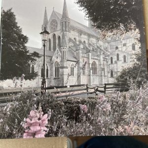 Art Card – Chichester Cathedral (grey/pink)