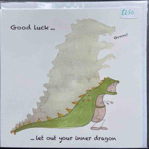 Art Card – Good Luck (Dino)