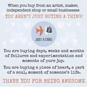 Art Card – 1 #justacard (not for sale)
