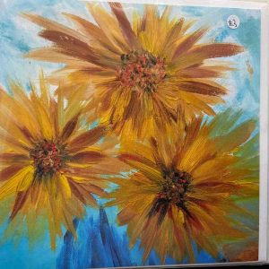 Art Card – Big Yellow Flowers (PP)