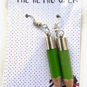 Jewellery – Pencil Earrings (Green)