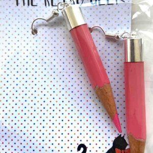 Jewellery – Pencil Earrings (Pink)