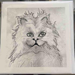 Art Card – Snowdrop (cat)