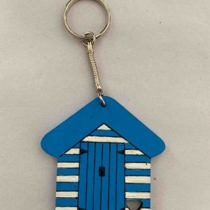 Keyrings – Blue Beach Hut (Dark)