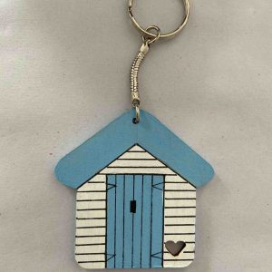 Keyrings – Light Blue Beach Hut