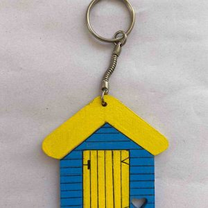 Keyrings – Blue/Yellow Beach Hut