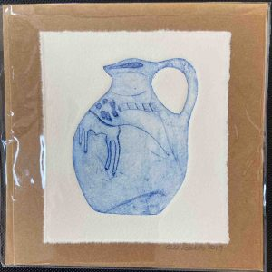 Art Card – Blue Handle Pot (Hand Produced)