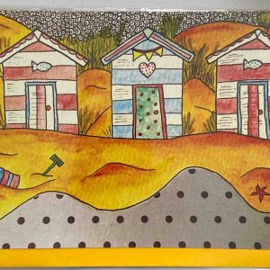 Art Card – Beach Huts 4