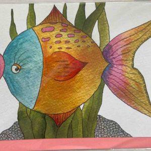 Art Card – Bubble Fish