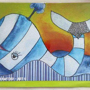 Art Card – Blue Whale
