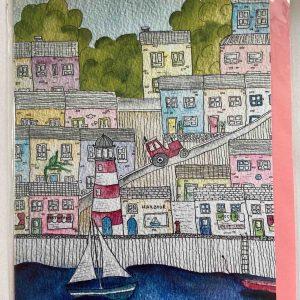 Art Card – Pink Post Office