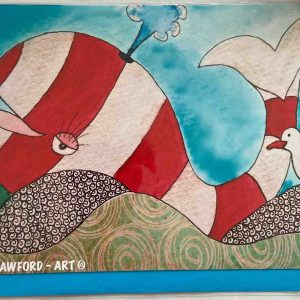Art Card – Red Whale