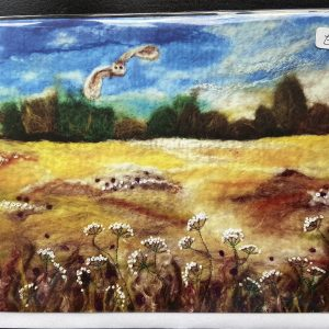 Art Card – Owl Landscape (MTB) Felted Reproduction