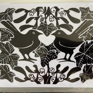 Art Card –  Mistletoe Black Birds (Xmas Range)
