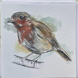 Art Card –  Robin (Xmas Range)