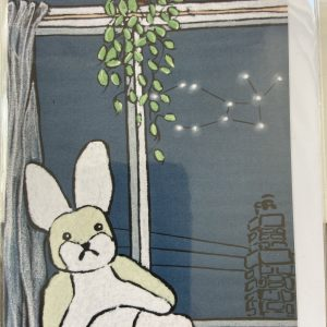 Art Card – Bunny & Mistletoe (Xmas Range)