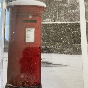 Art Card – Postbox In The Snow (Xmas Range)