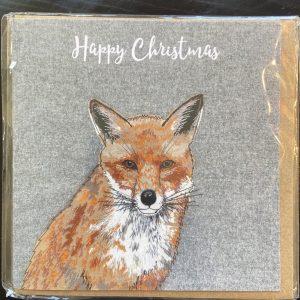 Art Card – Xmas Fox – Lellibelle