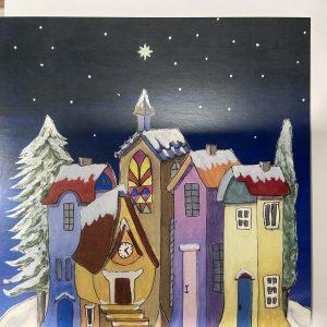 Art Card – Christmas Houses (Xmas Range)