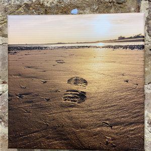 Photographs On Canvas – Footprint In The Sand