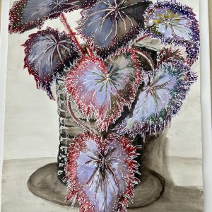 Art Card – Begonia (Winner of Beach Road Art Competition)