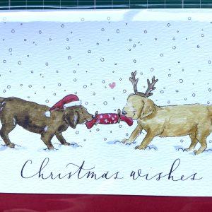 Art Card – Christmas Wishes (dogs) (Xmas Range)