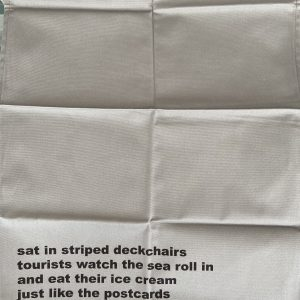 Tea Towel – Sat In Stripped Deckchairs – Moonink – Tea Towel