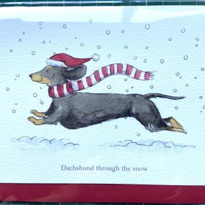 Art Card – Dachshund Through The Snow (Xmas Range)