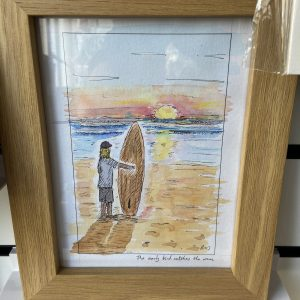 Original Paintings – Surfer on the Beach