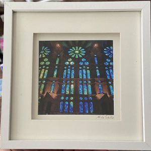 Framed Photography – Stained Glass, La Sagrada Familia