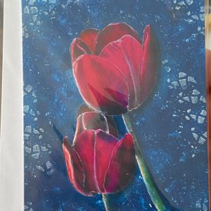 Art Card – Red Flowers