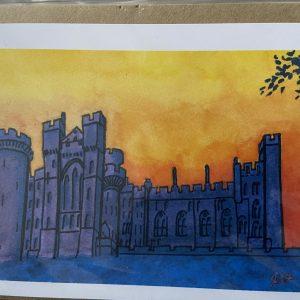Art Card – Arundel In Orange Sky