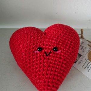 Textiles – Heart (crocheted)
