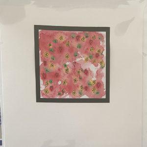 Art Card – Valentine's Card – Flowers (original)