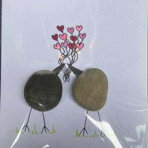 Art Card – Love Hearts (stone – JJ)