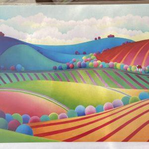Art Card – Stripy Downs View