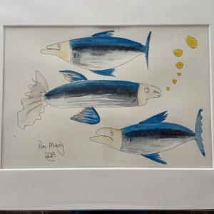 Original Paintings – Three Fish