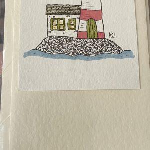 Art Card – Lighthouse (original artwork)