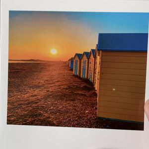 Art Card – Beach Huts (Sunglasses Collection)