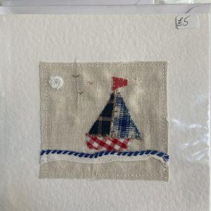 Art Card – Ship (original textile)