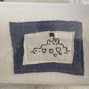 Art Card – Sand Castles  (original textile)