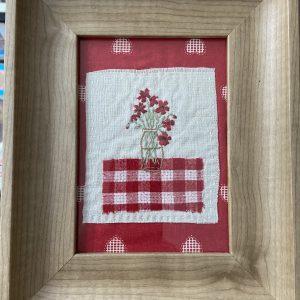 Textiles – Framed Flower Picture (original)