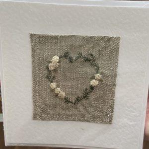 Art Card – Heart (original textile)