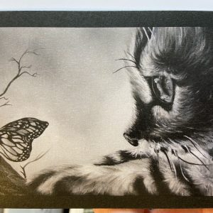 Art Card – Cat and Butterfly