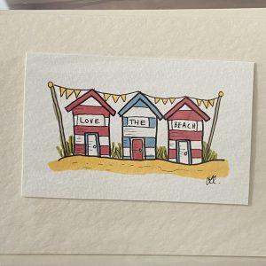 Art Card – Love The Beach (original artwork)