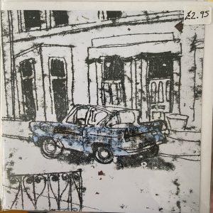 Art Card – Blue Ford Anglia