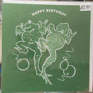 Art Card – Happy Birthday (Frogs)